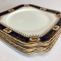 Bell China | Art Deco  | Square Cake Sandwich Plate and 6 x Square Tea Side Plates